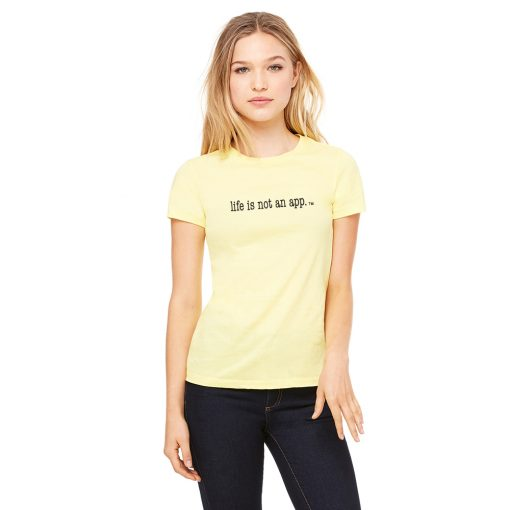 Women's Plain Tee in Yellow
