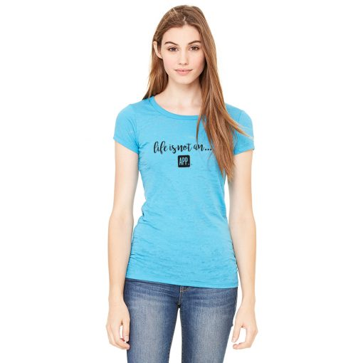 Women's Burnout Tee in Aqua