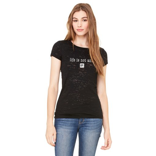 Women's Burnout Tee Original in Black