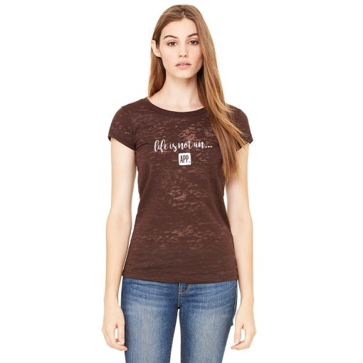 Women's Burnout Tee in Chocolate