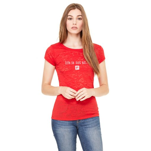 Women's Burnout Tee Original in Red