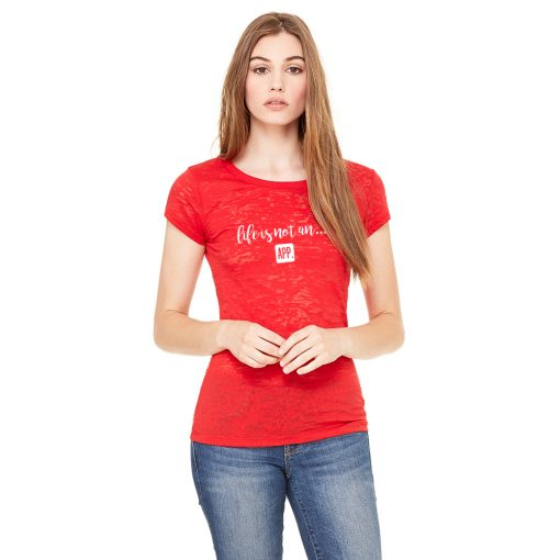 Women's Burnout Tee in Red