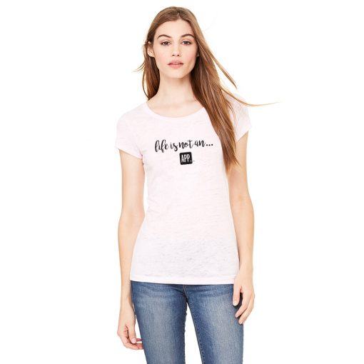 Women's Burnout Tee in Soft Pink