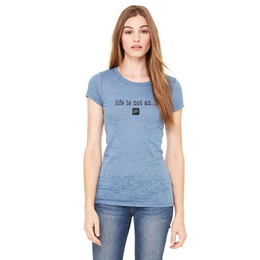Women's Burnout Tee Original in Steel Blue