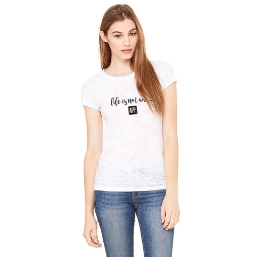 Women's Burnout Tee in White